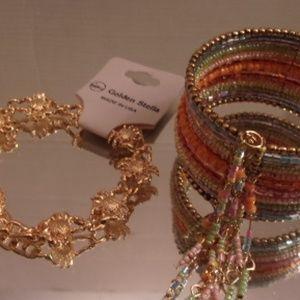 Unique Crab & Beaded Bracelets. L41-5